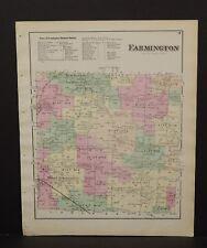 New York  Ontario County Map Farmington Township 1874 W15#28