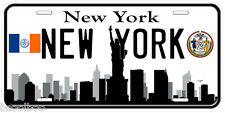 New York B&W Aluminum Novelty Car Tag License Plate