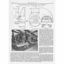 1912 Antique Engineering Print - Boiler Furnace for Mechanical or Gas Firing