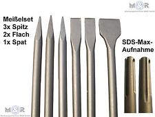 6 SDS Max Meißel Flachmeißel Spitzmeißel Spatenmeißel