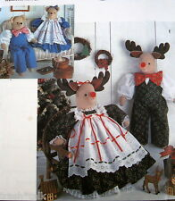 "Christmas Reindeer doll pattern Faith Van Zanten teddy bear couple 21"" FF"