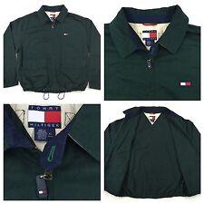 Vintage 90's TOMMY HILFIGER Green Full Zip Cargo Coat Mens XL Exc.