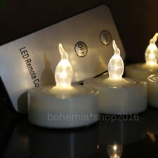 18x LED Teelichter Hochzeit Flammenlos mit Fernbedienung Timer Party Kerzen
