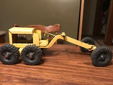 Vintage 1960's STRUCTO Road Grader Yellow Construction Vehicle Used 16.00-24