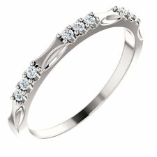 14K White Gold (1/6 ct. tw.) (G-H, Si2-Si3) Diamond Anniversary Band In