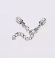 5 set chiusure colore argento per collana  bracciale bigiotteria