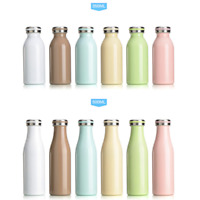 350/500ml AdultMilk Bottle Thermos Cup Stainless Steel Portable Thermos Cup 1cp