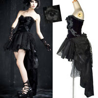 Robe steampunk gothique victorienne burlesque tournure traîne + jupon Punkrave