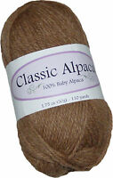 Classic Alpaca 100% Baby Alpaca Yarn #208 Tan Heather 50g/110 yds DK Peruvian