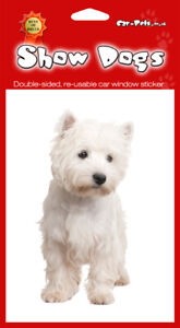 West Highland Terrier WESTIE - 2 pieces of Double sided Window Stickers