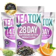 Colon Cleanse Fat Burn 7/14/28 Day Detox Set Tea Weight Loss Slimming Teatox  UK