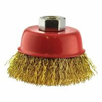 65mm Wire Cup Brush Wheel For Angle Grinder Crimped Brass Coated Removal