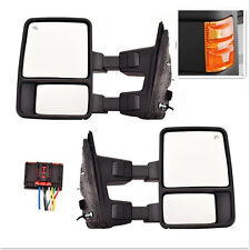 Orange Signal Mirror Power Heated  Towing Pair For 08-16 Ford Super Duty Side