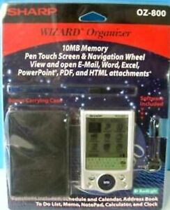 Sharp Wizard Organizer OZ-800 Personal Digital Assistant ~ New In Package
