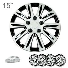 """FOR FORD NEW 15"""" ABS SILVER RIM LUG STEEL WHEEL HUBCAPS COVER 547"""