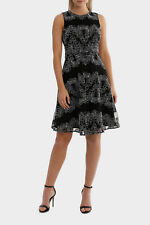 Jayson Brunsdon Black Label Cornelli Mesh Black And White Lace Dress
