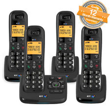 BT XD56 Quad Digital Office Home Cordless Phone with Nuisance Call Blocker Black
