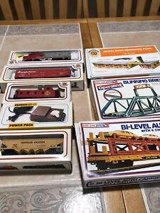 Huge Lot HO santa fe Train set bachmann model power life like Accessories