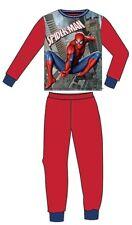 Fleece Pyjama Schlafanzug Jungen Spiderman rot Superheld Gr. 116 / 6 Jahre