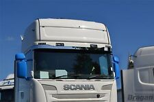 To Fit 09+ Scania P G R 6 Series Streamline Sunvisor Stainless Steel Chrome Trim