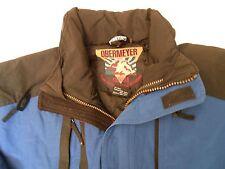 Obermeyer Interchange Men Snow Ski Snowboard Hooded Jacket Shell Blue Size S
