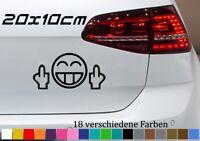 Mittelfinger 20x10cm Smiley Auto Aufkleber Golf Opel GTI Tuning JDM OEM Sticker