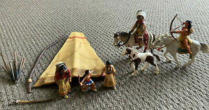 SCHLEICH Sioux Indian Wild West Collection Teepee Parts Papo Boy Horse 2005