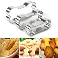 3pcs Dog Bone Stainless Steel Biscuit Cookie Cutter Pastry Cake Baking Mold Tool