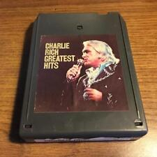 CHARLIE RICH GREATEST HITS VINTAGE RARE 8 TRACK TAPE TESTED LATE NITE BARGAIN!