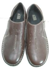 Drew Mens Brown Leather Casual Adjustable Width Shoes Size 9 WW   #34 HS