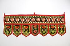 Door Valance Toran Indian Art Pelmet Wall Hanging Embroidered Home Décor