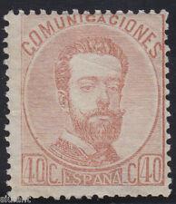 AMADEO I - * 125 - 40 c. castaño - AÑO 1872 NUEVO GOMA ORIGINAL - BUENA CALIDAD