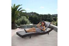 Sonnenliege Lounge Gartenliege Liege Polyrattan Design braun meliert grau
