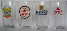 Foreign Beer Brewery beer pint glasses, pick any 4 of 12, your choice