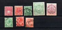 8 timbres divers colonies anglaises