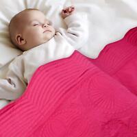 "Toddler Kids Bed Blanket Crib Baby Quilt Lightweight Cotton Embossed 36""x46"""