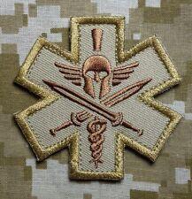 SPARTAN US USA ARMY MEDIC EMT EMS MILSPEC MORALE DESERT VELCRO® BRAND PATCH