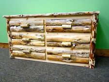 Rustic Log Dresser 6 Drawers - $899 - Dovetail Drawers - Free Shipping