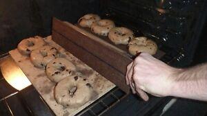 Bagel Boards (set of 4) Bake authentic bagels at home. (burlap, cedar, aluminum)