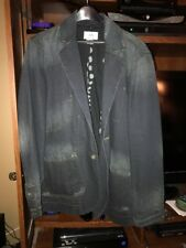 Armani Echange A/X Mens Dark Blue Distressed Denim Jacket (M)