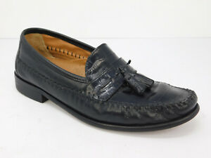 Florsheim Pisa Tassel Loafers Black Crocodile  Leather 18469-01 Mens Sz Us 9.5 D