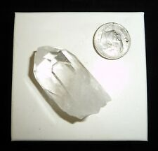 Silver Tip Point Quartz Crystal Lemurian Point 18 grams Reiki Display