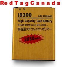 2850mAh Capacity Gold Battery for Samsung Galaxy S 3 III i535 L710 T999 GT-i9300