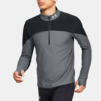 Under Armour Mens Qualifier Half Zip Top Grey Sports Gym Running