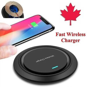 Fast Wireless Charging Pad Qi Charger For S21 S20 FE S10 S9 S8 iPhone 11 12 XR 8