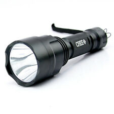 1800LM C8 CREE XM-L XPE LED Tactical 3-Mode 18650 Flashlight Torch Light Lamp