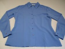NEXT PRETTY POWDER BLUE PLAIN SIMPLE LONG SLEEVE SHIRT UK 10 FINE SMOOTH TEXTURE