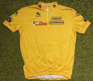 Vintage Giordana Yellow Tour De France 90's Cycling Jersey Credit Lyonnais IEV