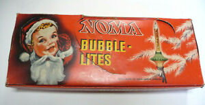 VINTAGE NOMA FLYING SAUCER BUBBLE LIGHTS BOX AND INSERT HOLDS 10 BUBBLE LITES