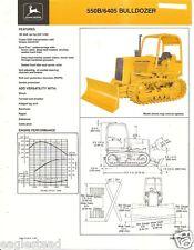 Equipment Brochure - John Deere - 550B 6405 - Bulldozer - c1985 (E2098)